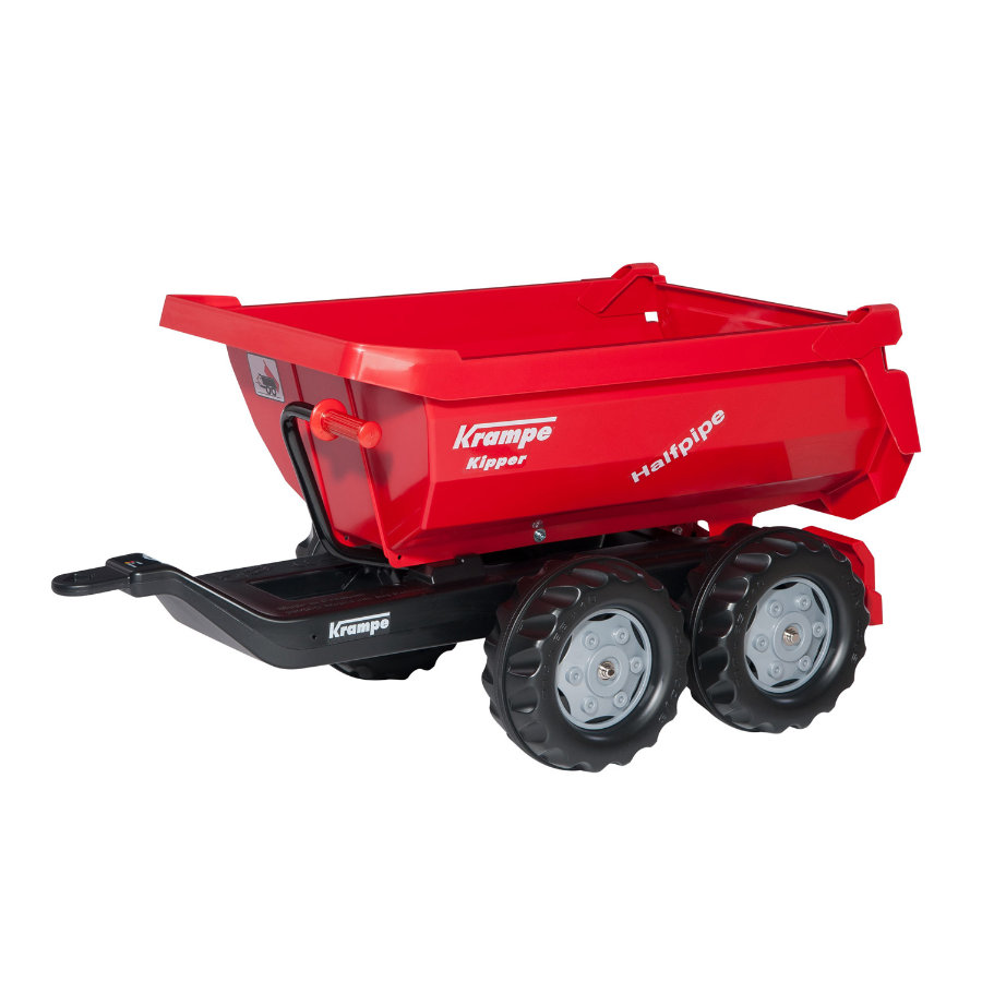 rolly®toys Remorque benne pour tracteur enfant rollyHalfpipe rouge 123230