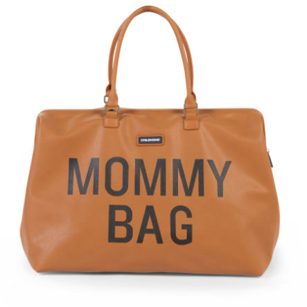 CHILDHOME Mommy Bag Lederlook braun