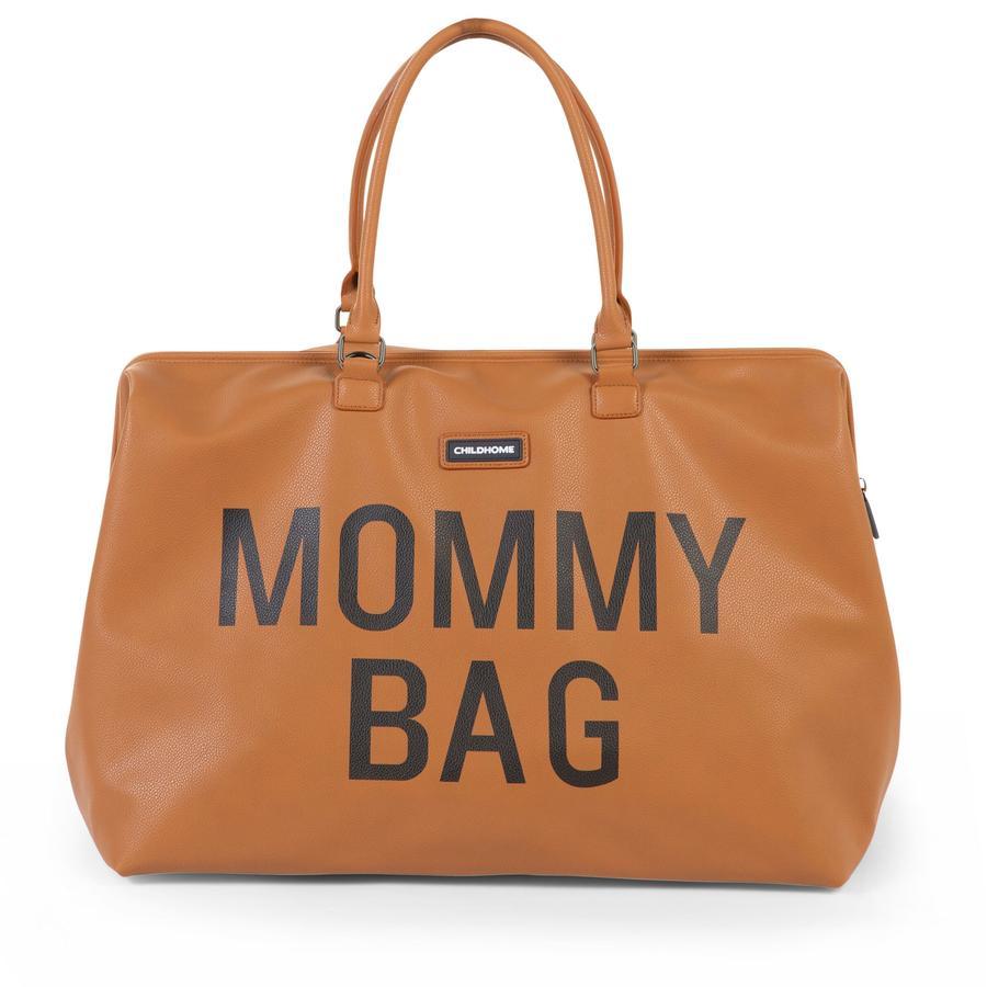 CHILDHOME Mommy Bag Lederlook bruin
