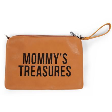 CHILDHOME Mamma Clutch skinn lærlook brun