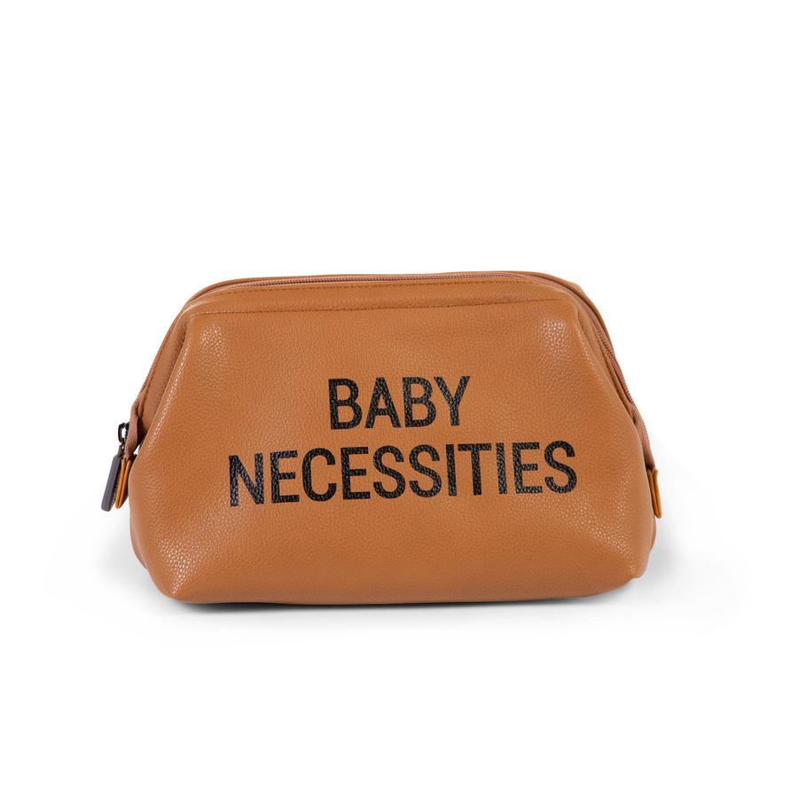 CHILDHOME Baby necessities toilettaske læderlook brun