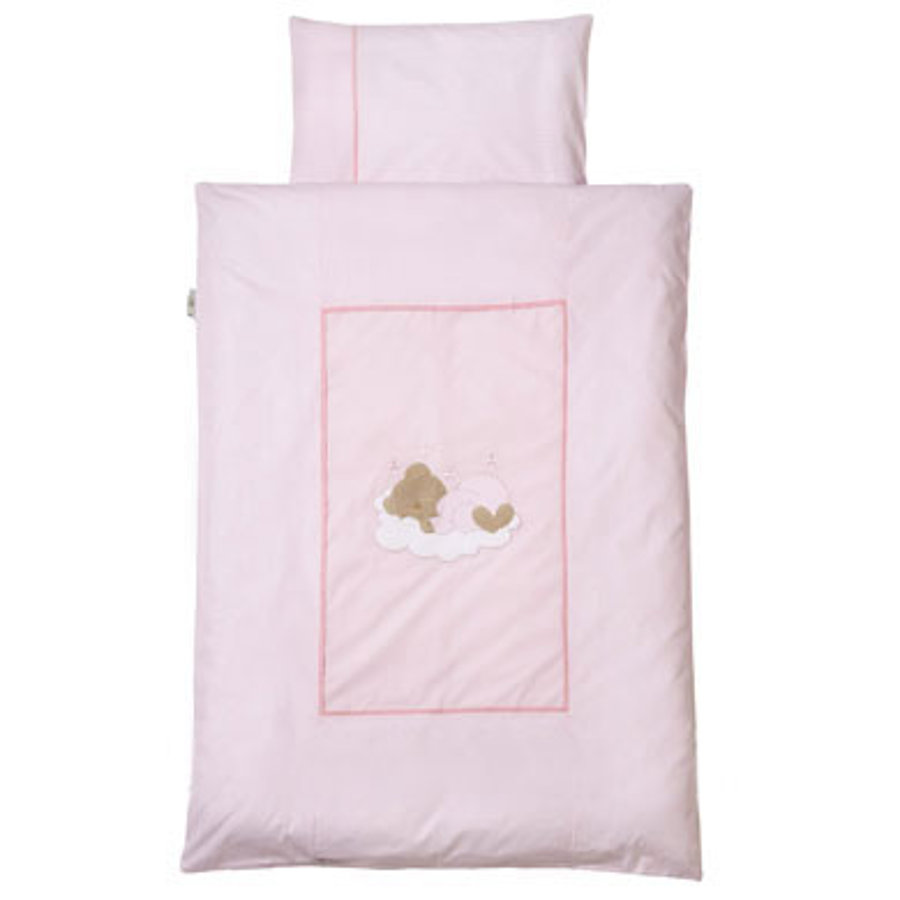 Easy Baby Lenzuola 100x135cm Sleeping Bear rose (410-82)