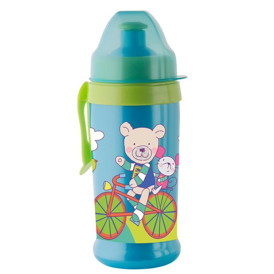 Rotho Babydesign Trinkflasche mit Push Pull Aufsatz aquamarine / applegreen
