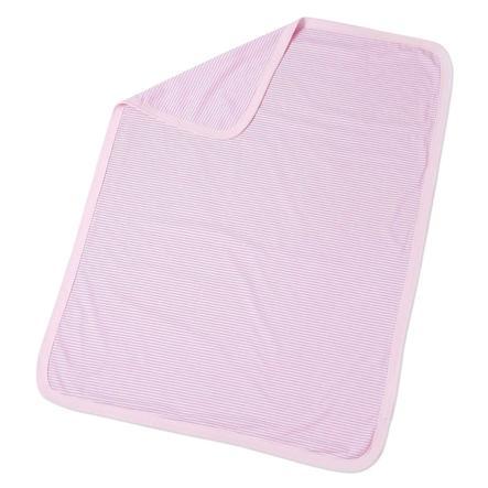 Easy Baby Kinderdecke 75x100cm Streifen rosa
