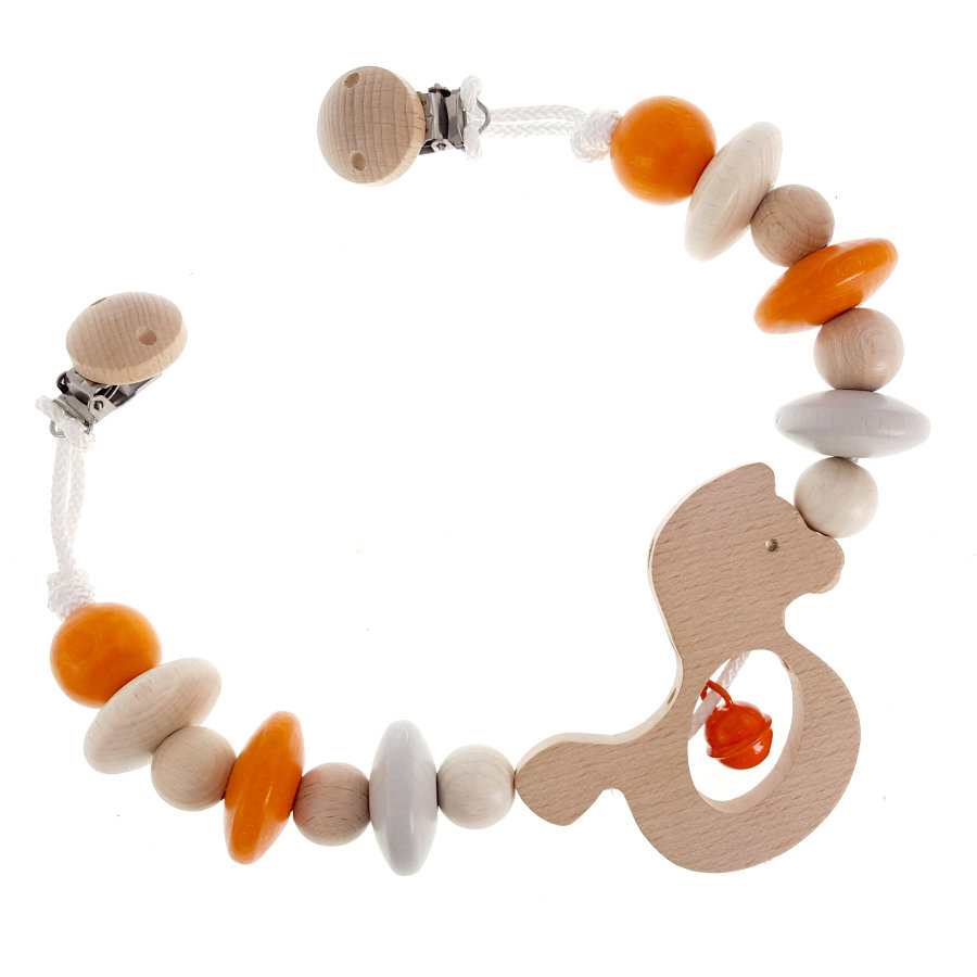 HESS Kinderwagenkette Pferdchen, natur orange
