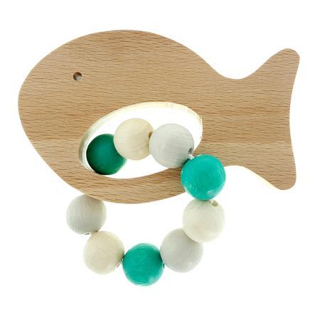 HESS Grijp rammelaar Vis natuurlijk Turquoise
