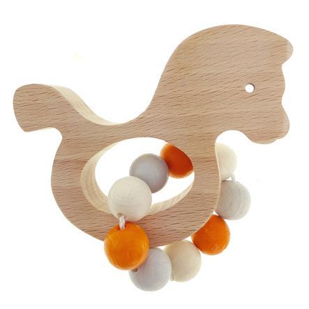 Hess Hochet anneau cheval, bois naturel orange