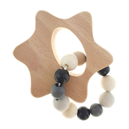 Hess Hochet anneau étoile, bois naturel noir