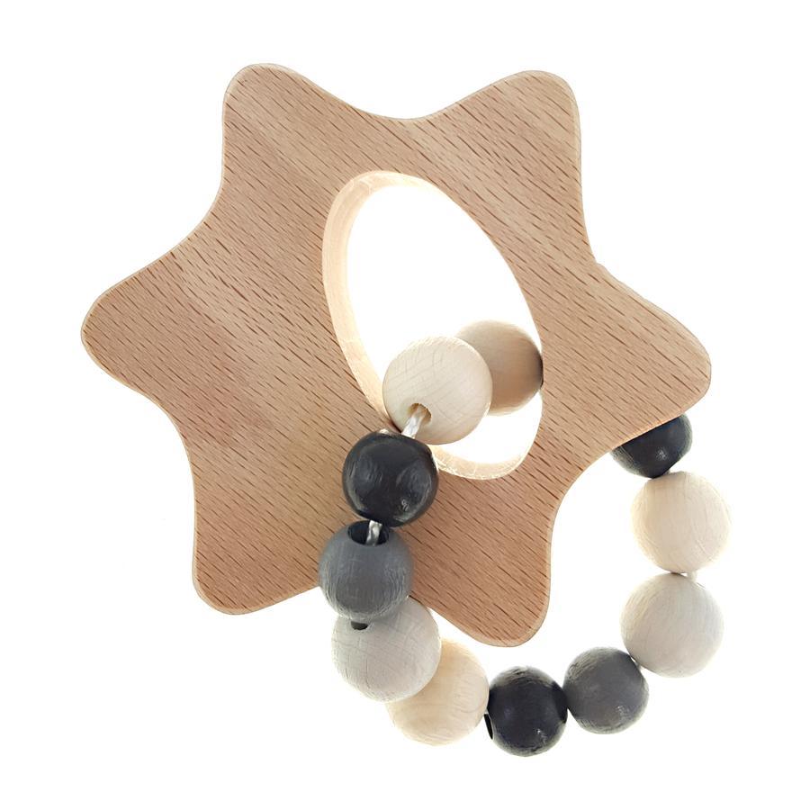 HESS Grab rattle star, naturlig svart