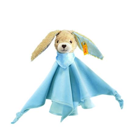 STEIFF šátek na mazlení - zajíc 28 cm modrý