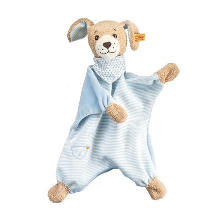 Steiff Gute Nacht Hund Schmusetuch, 30 cm blau