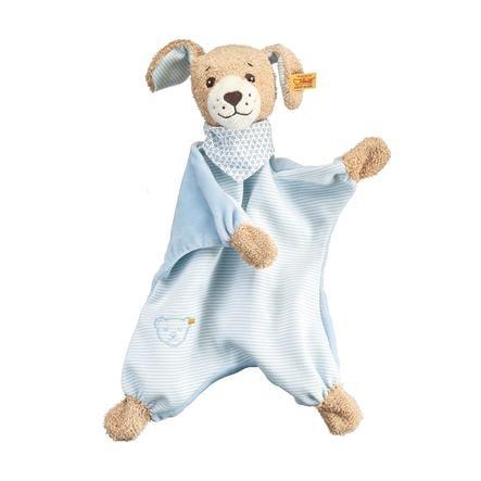 Steiff Slaap lekker Hond, Knuffeldoek 30 cm, blauw