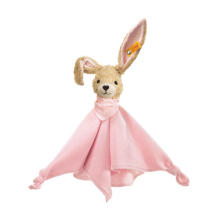 Steiff Hoppel Hase Schmusetuch 28 cm rosa