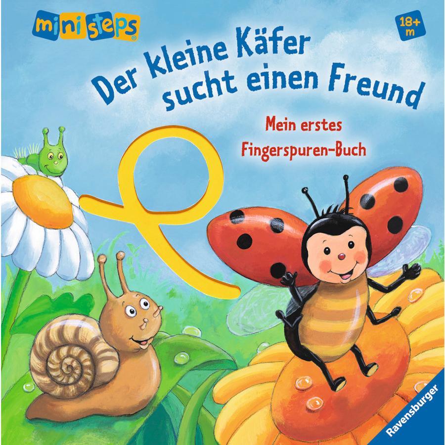 RAVENSBURGER ministeps Mein erstes Fingerspuren-Buch: Der kleine Käfer sucht einen Freund