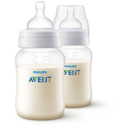 Philips Avent antikoliková láhev SCF813 / 27 vč. Ventil AirFree, 260 ml, 2 balení, transparentní