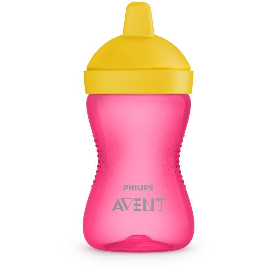 Philips Avent Tazza con beccuccio morbido SCF802/04, 300 ml, rosa/giallo (a partire dal 9. mese)