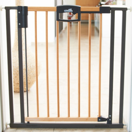 GEUTHER Easylock Wood SPÄNNGRIND Säkerhetsgrind / Barngrind  68-76 cm (2791)