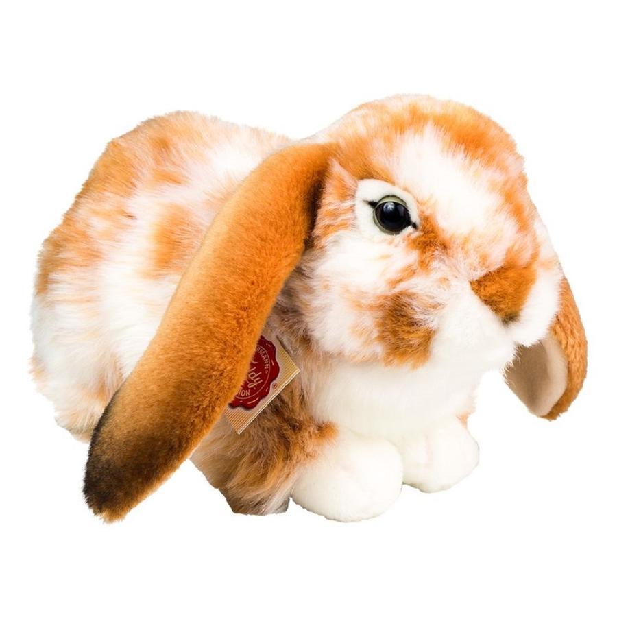 Teddy HERMANN ® Liggende hare, lysebrunhvit pied, 30 cm