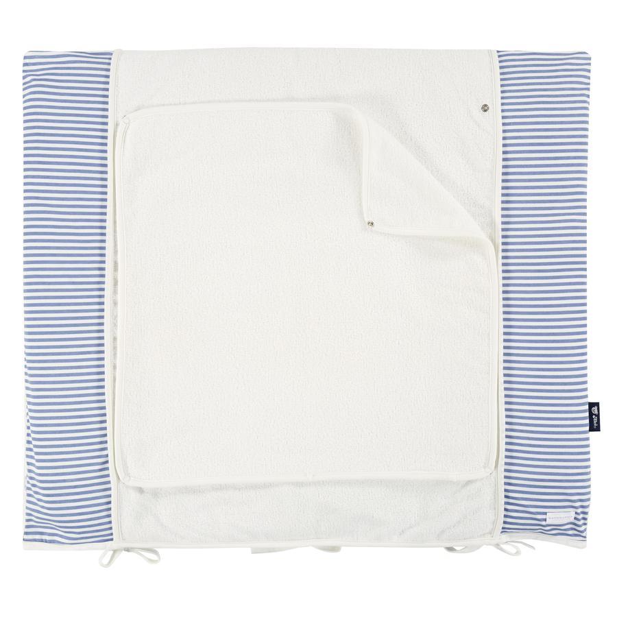 bellybutton por Alvi ® Cambiando la cubierta de la almohadilla 85 x 70 cm, azul león