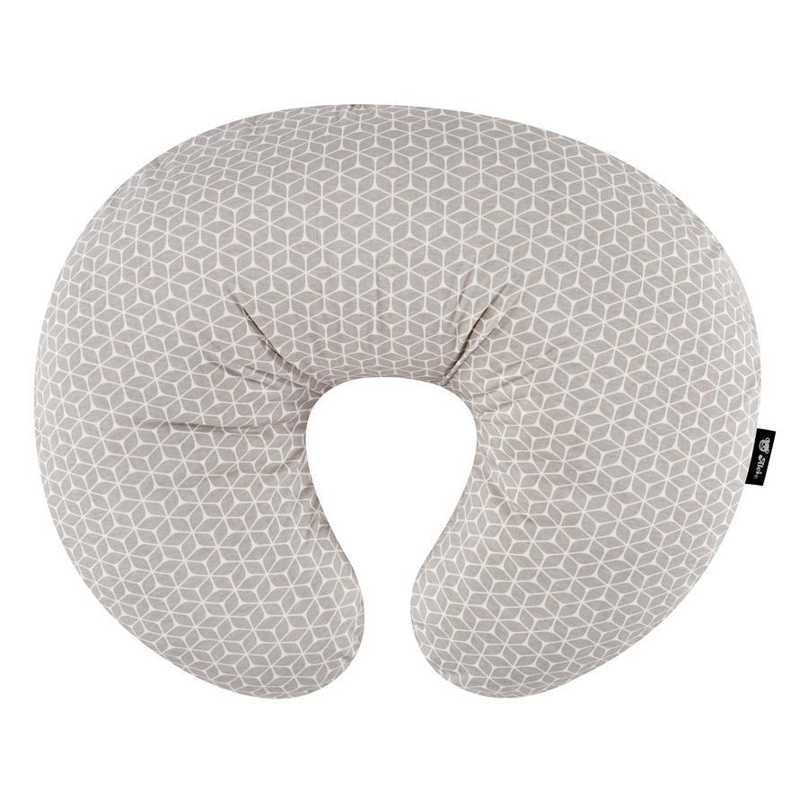 Alvi® kojící střední polštář s krycím kosočtvercem taupe