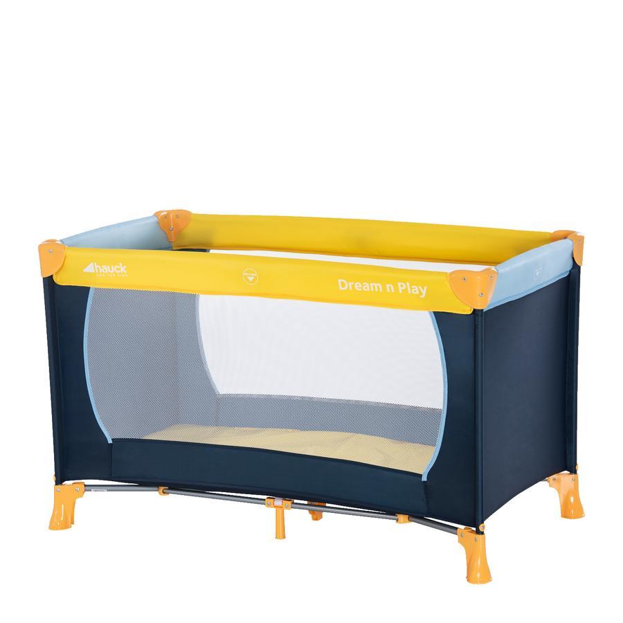 hauck Reisebett Dream'n Play yellow/blue/navy