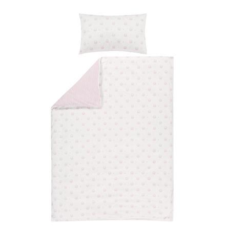 bellybutton by Alvi® Ropa de cuna reversible 100 x 135 cm, Classic Line Ovejita rosa