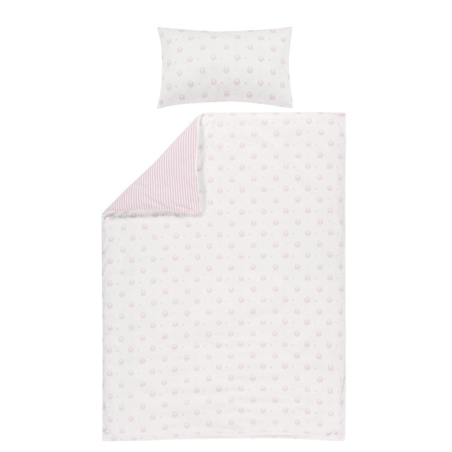 bellybutton by Alvi ® Biancheria da letto reversibile 100 x 135 cm, Classic Line Sheep pink