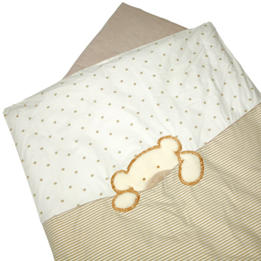 BeBes Collection Parure de lit Big Willi beige, 80 x 80 cm