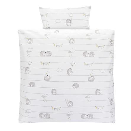 Alvi® Parure de lit enfant les amis hérissons 80x80 cm