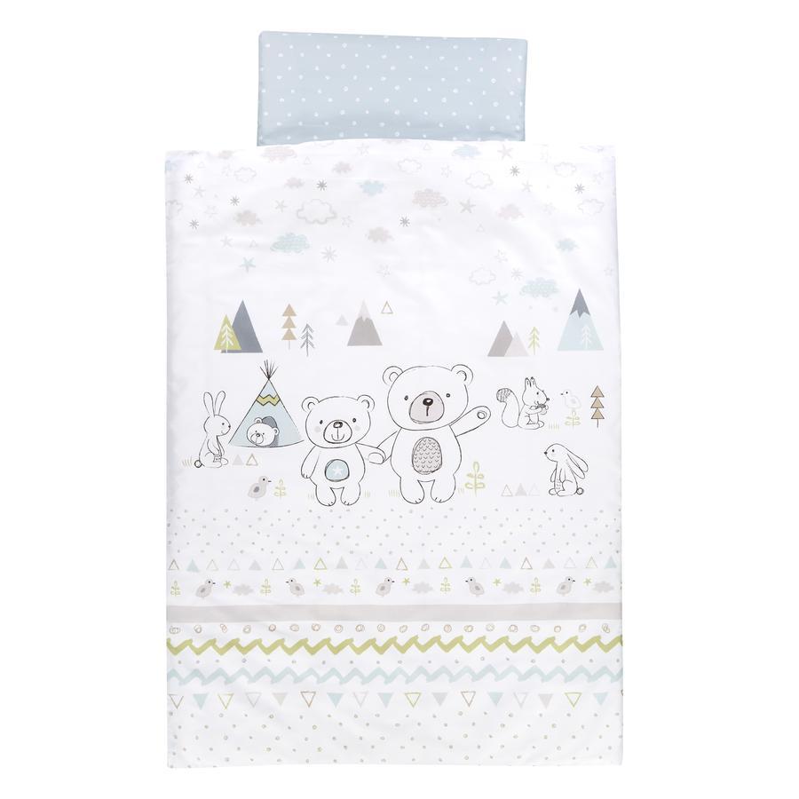 Alvi® Parure de lit enfant Tipi Bear, 100x135/40x60 cm