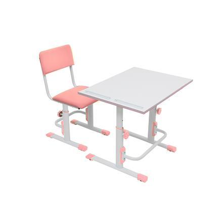 POLINI Kids Bureau enfant et chaise blanc/rose
