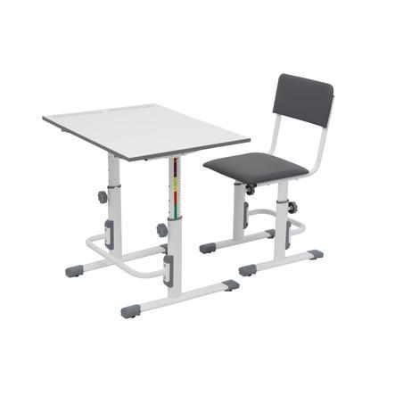POLINI Kids Schoolset Tafel en stoel wit/grijs