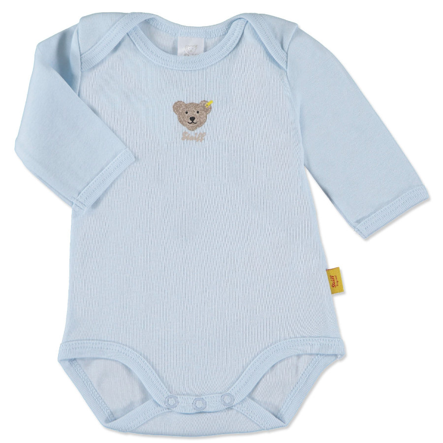 STEIFF Boys Baby Body Manica 1/1 baby blue