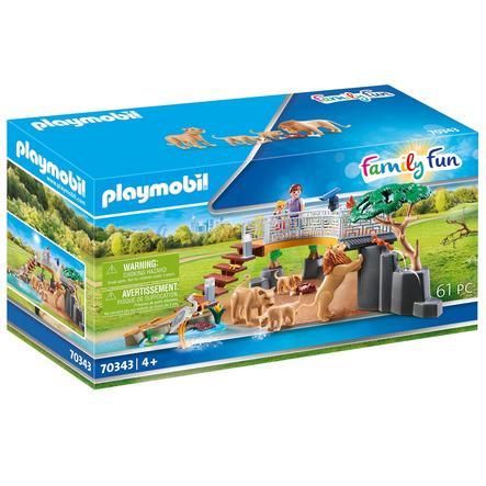 PLAYMOBIL® Family Fun Lions i et utendørs kabinett 70343