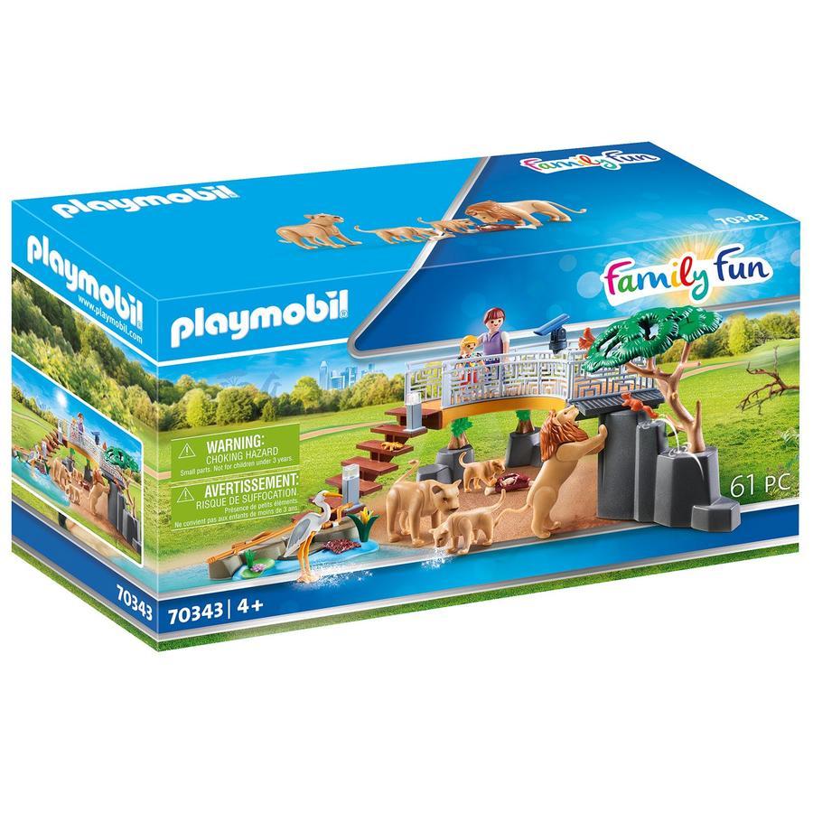 PLAYMOBIL  ® Leoni del divertimento per la famiglia in un recinto all'aperto 70343