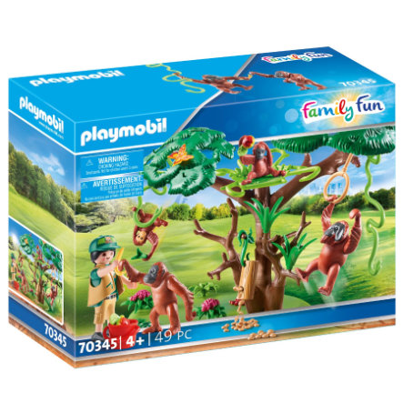 PLAYMOBIL  ® Family Fun Orang Utans in boom 70345