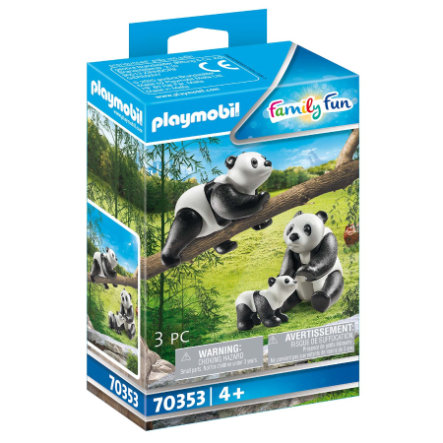 PLAYMOBIL® Family Fun 2 Pandas mit Baby 70353
