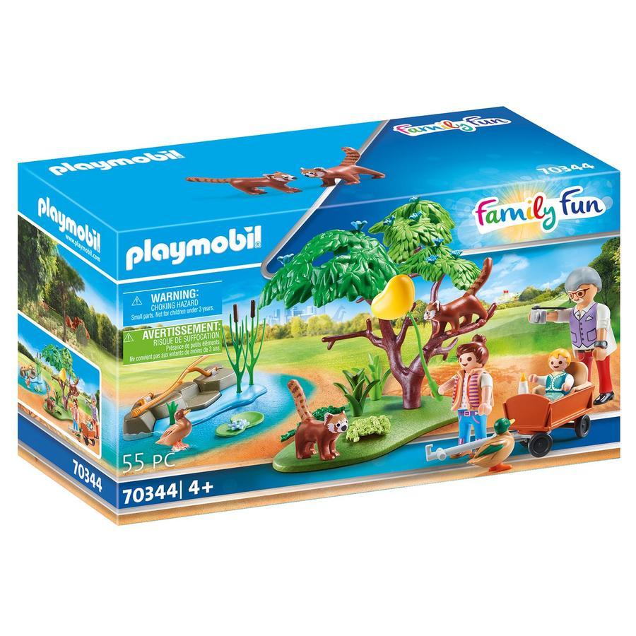 PLAYMOBIL® Figurine pandas roux avec enfants Family Fun 70344