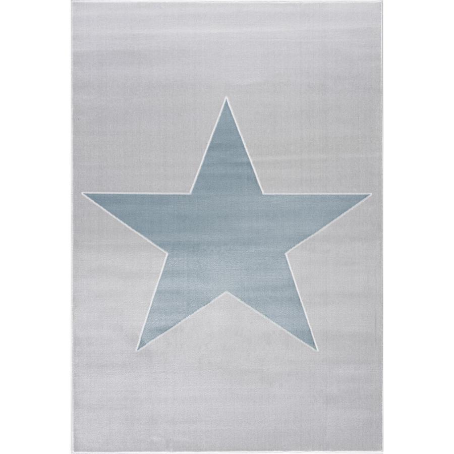 LIVONE play a dětský koberec Happy Rugs Shootingstar, stříbro-šedá / modrá 160 x 230 cm