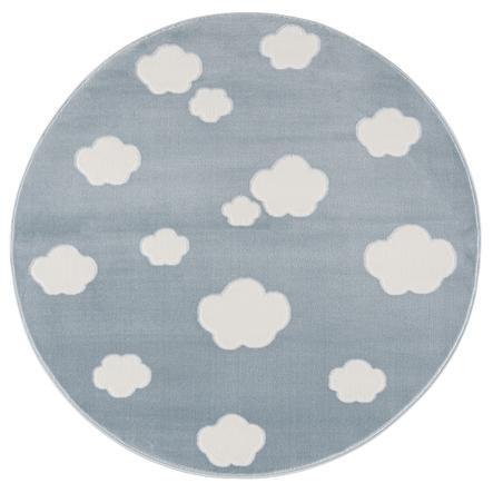 LIVONE Dywan dziecięcy Happy Rugs - Sky Cloud, okrągły 133 cm niebieski/biały