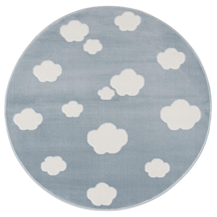LIVONE Tapijt Happy Rugs Sky Cloud blauw/wit rond 133 cm