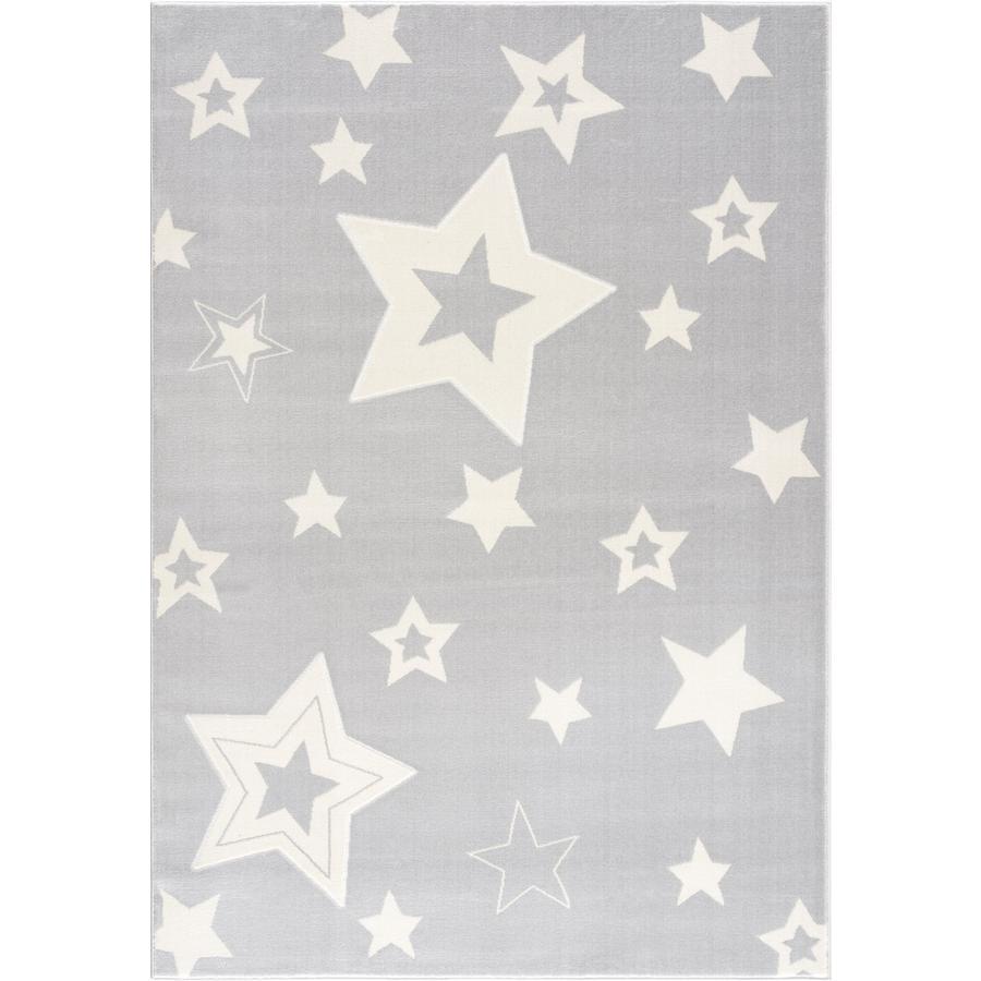 LIVONE lek og barneteppe Happy Rugs Galaxy sølvgrå / hvit 120 x 180 cm