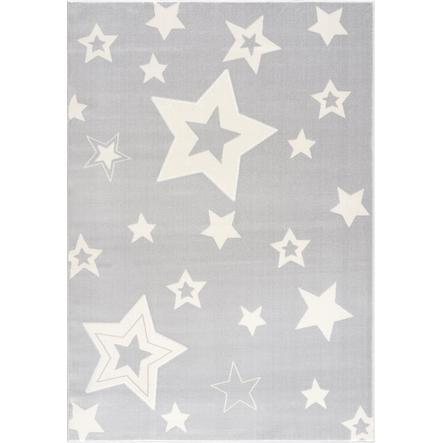 Alfombra de juego y de niños LIVONE Alfombras Happy Rugs Galaxy gris plateado/blanco 160 x 230 cm