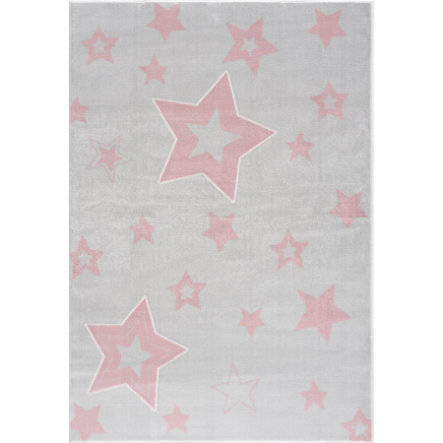LIVONE lek og barneteppe Happy Rugs Galaxy sølvgrå / rosa 120 x 180