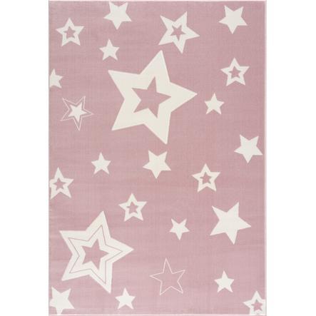 LIVONE leikki ja lasten matto Happy Rugs Galaxy vaaleanpunainen / valkoinen 160 x 230 cm