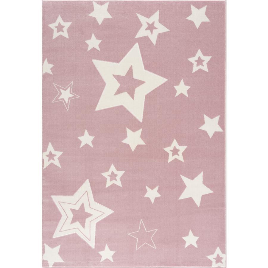 Alfombra de juego y de niños LIVONE Alfombras Happy Rugs Galaxy rosa/blanco 160 x 230 cm