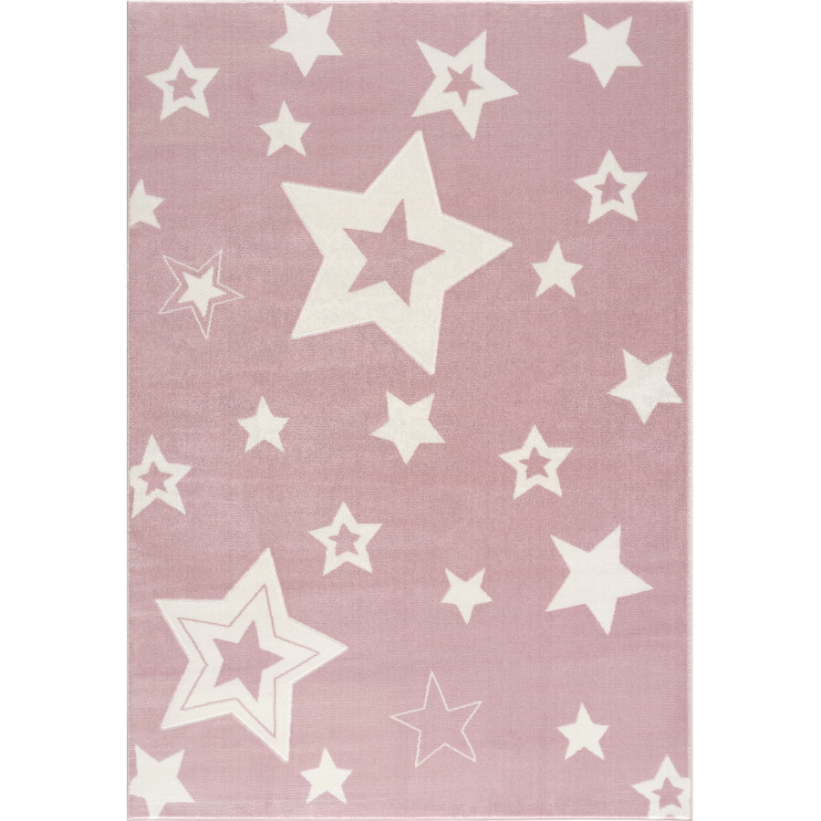 LIVONE Barnmatta Happy Rugs Galaxy rosa/vit160 x 230 cm