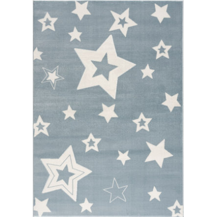 LIVONE Barnmatta Happy Rugs Galaxy blå/vit 120 x 180 cm