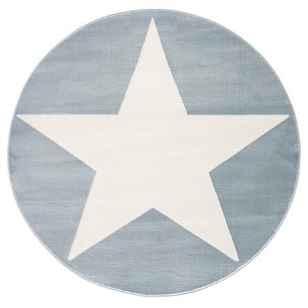 LIVONE Spiel- und Kinderteppich Happy Rugs Shootingstar rund, blau/weiss 160 cm