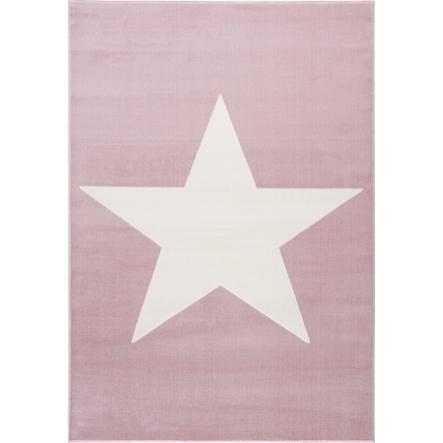 LIVONE Spiel- und Kinderteppich Happy Rugs Shootingstar, rosa/weiss 160 x 230 cm